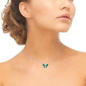 Glitzy Rocks Polished Butterfly Abalone - Best Necklace for Girlfriend: Beautiful Butterfly Necklace