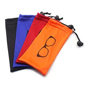 Global Glasses Soft storage Pouch Drawstring Microfiber - Best Glasses Cases: Great fastener