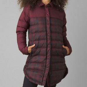 prAna Globe Thistle Shirt Jacket - Best Winter Coats for Women: Lightweight 2-Way Center Front Zipper