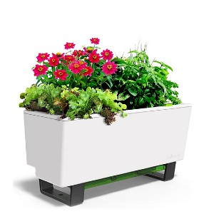 Glowpear Self-Watering Mini Bench Planter  - Best Self-Watering Planters: No more over or underwatering