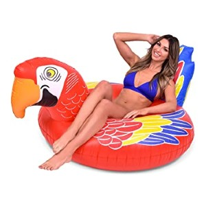 GoFloats Tropical Parrot Pool Float Party Tube - Best Floats for Adults: Huge parrot float