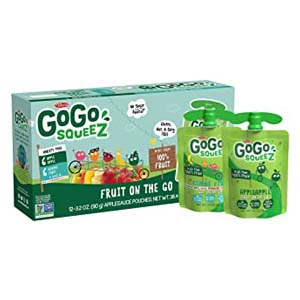 GoGo Squeez Applesauce on The Go - Best Healthy Snack: Portable and long lasting real fruits