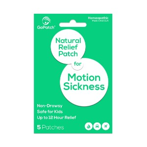 GoPatch Motion Sickness  - Best Patches for Motion Sickness: Nausea and Dizziness Associated with Motion