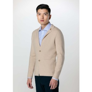 Gobi Notch Lapel Cardigan - Best Cardigans for Men: Cashmere Cardigan for Formal Style