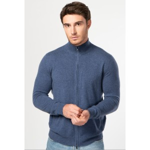 Gobi Full Zip Stand Collar Cardigan - Best Cardigans for Men: Perfect Single-Ply Cashmere Cardigan