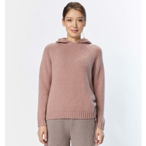 Gobi Drawstring Hooded Sweater - Best Hoodie for Cold Weather: Sporty and Feminine Cashmere Hoodie