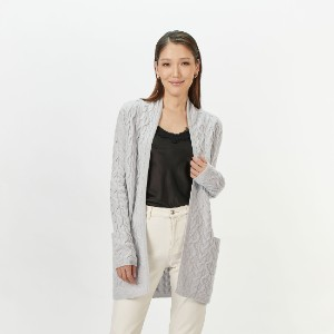 Gobi Cable Cardigan - Best Cardigans for Petites: Long Cable Knit Cashmere Cardigan