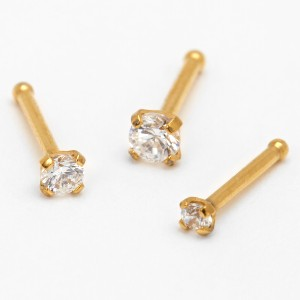 ICING Gold Cubic Zirconia - Best Jewelry for New Nose Piercing: Best for any occasions