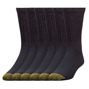 Gold Toe 656s Cotton Crew Athletic Sock  - Best Socks for Men: Long Lasting Reinforced Toe