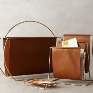 M. Cozy Life Golden Metal PU Leather Magazine Rack - Best Magazine Storage: Exquisite workmanship