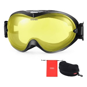 Gonex Snowboard Goggles - Best Goggles for Night Skiing: Three-Layer Foam