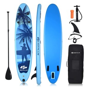 Goplus Inflatable Stand Up Paddle Board - Best Inflatable Paddle Board Under $400: Non-Slip Deck Paddle Board