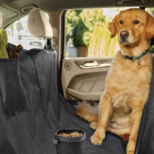 Gorilla Grip Original Durable Slip-Resistant Waterproof Dog Car Seat Protector Cover - Best Dog Car Back Seat Covers: Versatile Back Seat Cover