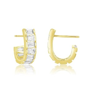 Melinda Maria Grace Huggie Earring - Best Jewelry for Bride: Classic and unfussy