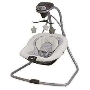 Graco Simple Sway Baby Swing - Best Baby Swings for Small Spaces: Plug-in option