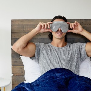 Gravity Weighted Sleep Mask - Best Eye Cover for Sleeping: Eye Cover with Adjustable Velcro Strap