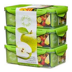 Caleb Company Green Bento Box - Best Food Storage Container: Removable compartments