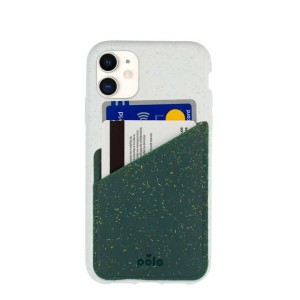 Pela Case Green Eco-friendly Phone Case Card Holder - Best Card Holder Phone Case: Great Way to Keep 2 ID