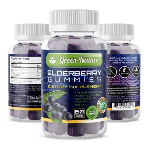 Green-Nature Elderberry Gummies for Adults and Kids - Best Elderberry Gummies for Adults: Multivitamin with Halal Certificate