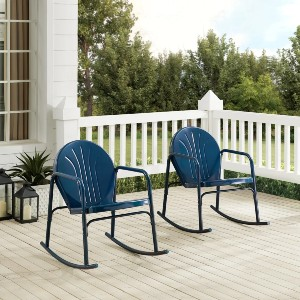 Griffith 2Pc Rocking Chair Set - Best Rocking Lawn Chair: Smooth Metal Rockers