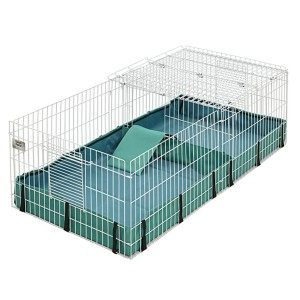 MidWest Homes for Pets Guinea Habitat Guinea Pig Cage - Best Cage for Guinea Pigs: Ideal for two