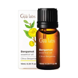 Gya Labs Bergamot Essential Oil  - Best Aromatherapy for Anxiety: Bergamot for Uplifts The Mood