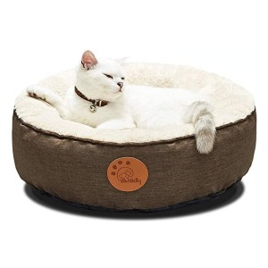 HACHIKITTY Washable Donut Cat Bed Round - Best Cat Beds for Older Cats: Easy to clean
