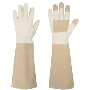 HANDLANDY Long Thorn Proof Gardening Gloves - Best Gardening Gloves for Women: Soft, Lightweight and Puncture Resistant