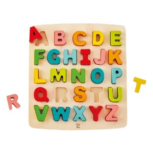 Hape CHUNKY ALPHABET PUZZLE - Best Wooden Puzzles for Toddlers: Non-Toxic Finishes and Child Safe Materials