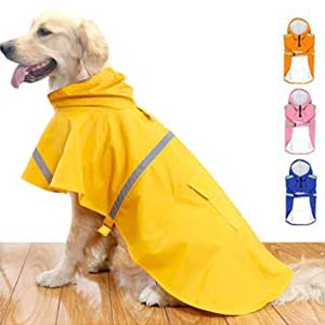 HAPEE Dog Raincoats for Large Dogs - Best Raincoats for Big Dogs: Fits perfectly and stays in place