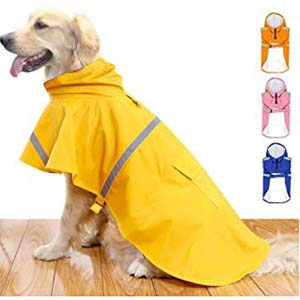 HAPEE Dog Raincoats for Large Dogs - Best Raincoats for Big Dogs: Adjustable strap for perfect fit