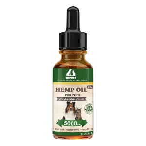 HAPIPET  Hemp Oil for Pets - Best CBD Oil for Dogs on Amazon: Relieve Anxiety and Joint