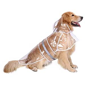 HDE Clear Waterproof Rain Coat - Best Raincoats for Big Dogs: Durable and stylish