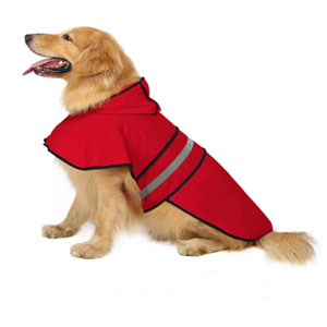 HDE Store Dog Raincoat Hooded Slicker Poncho - Best Raincoats for Dogs: Adjustable Belly Strap Raincoat