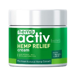 HEMPACTIV Hemp Pain Relief Cream - Best Pain Cream for Sciatica: Highly Active Pain-Relieving Cream