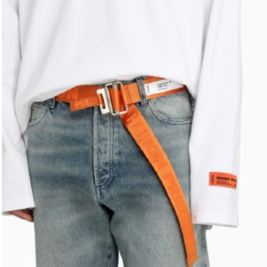 HERON PRESTON Ribbon orange belt - Best Men's Belt for Jeans: Adjustable Closure Belt