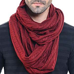 HISSHE Men Knit Scarf E5031b - Best Scarves for Winter: Meticulously done