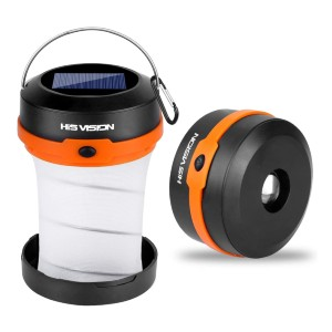 HISVISION Solar Powered LED Camping Lantern - Best Solar Lanterns: Durable and Weather Resistant