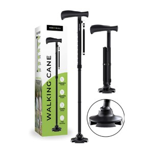 HONEYBULL  MKAFV-545 - Best Cane for Hip Replacement: For walking on snow or grass
