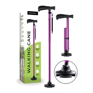 HONEYBULL Walking Cane - Best Cane for Walking in Sand: Securely grips the ground