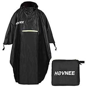 HOVNEE Rain Poncho for Man or Women - Best Raincoats for Hiking: Rain poncho, tent mat, and awning