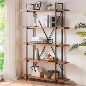 HSH Solid Wood Bookcase - Best Bookcases for Heavy Books: Elegant Solid Wood Bookcase