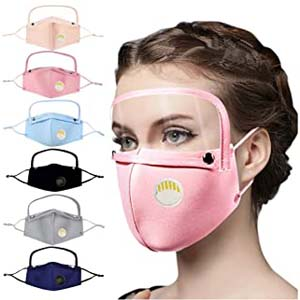 HUYURI Adult Reusable Protect - Best Masks for COVID: Not only nose and mouth, your face will also be protected