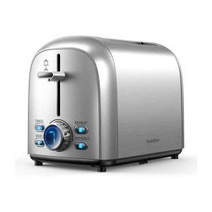 HadinEEon Stainless Steel Toaster 2 Slice - Best Toaster Two Slices: 7 Browning Levels with LED