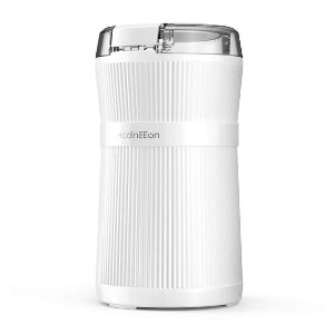 HadinEEon Coffee Grinder with Stainless Steel Blade & Bowl - Best Portable Coffee Grinder: Grinder with a Lid-Activated Safety Switch