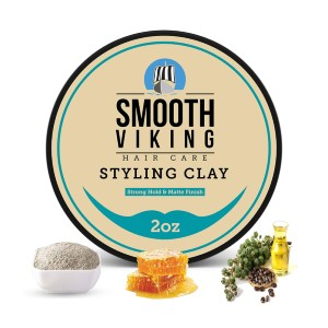Smooth Viking Hair Clay For Men - Best Pomade for Thin Hair: Easy to Apply for Great Results