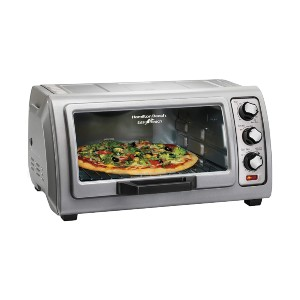 Hamilton Countertop Toaster Oven with Easy Reach Roll - Best Electric Oven for Baking: Electric Oven with Roll Top Door Design