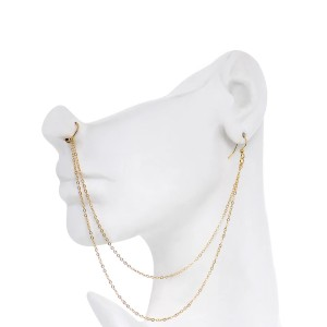 BodyCandy Gold Plated Ear to Nose Chain - Best Jewelry for New Nose Piercing: Nose or Ear? Both!