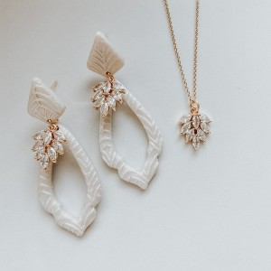 Clay and Fern Co Bride Jewelry - Best Jewelry for Strapless Wedding Dress: Best for sensitive skin