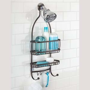 iDesign York Lyra Hanging Shower Organizer - Best Bathroom Organizer: Access your needs easily